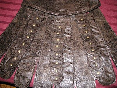 riveted half circles for Xena costume