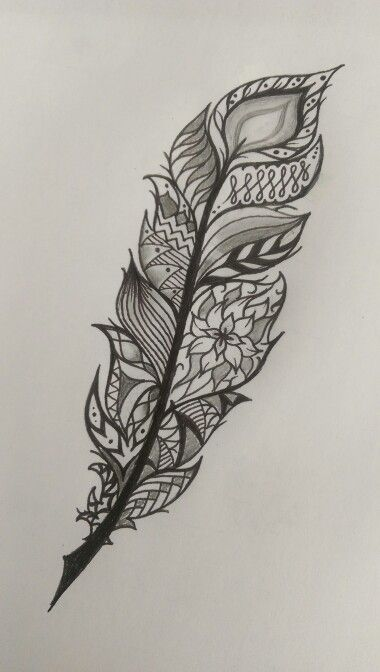 Feather tattoo idea mandala style