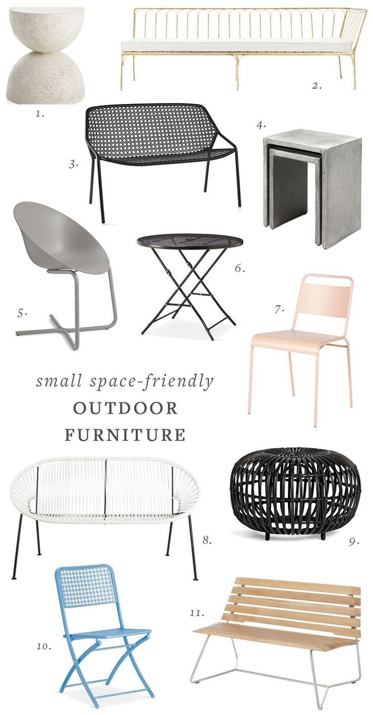 Outdoor deck or patio furniture for small spaces outdoor dining and lounge furniture round up smallspaces outdoordining outdoor outdoorfurniture