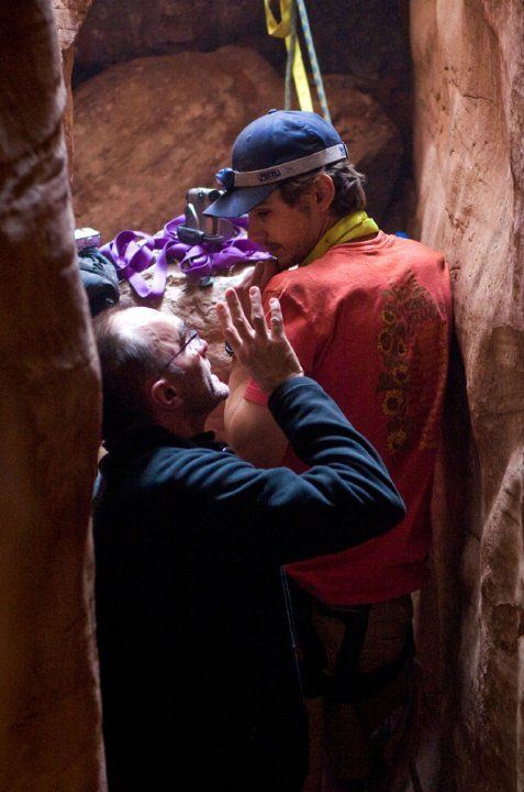 Still of Danny Boyle and James Franco in 127 Hours (2010)