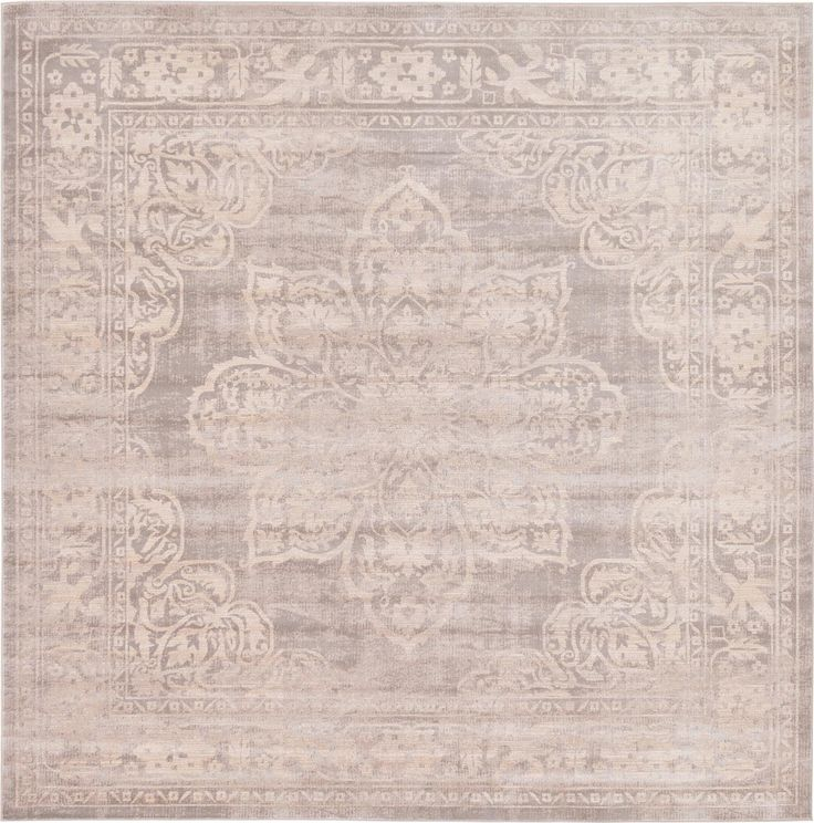 Gray 8' x 8' Restoration Square Rug | Area Rugs | eSaleRugs