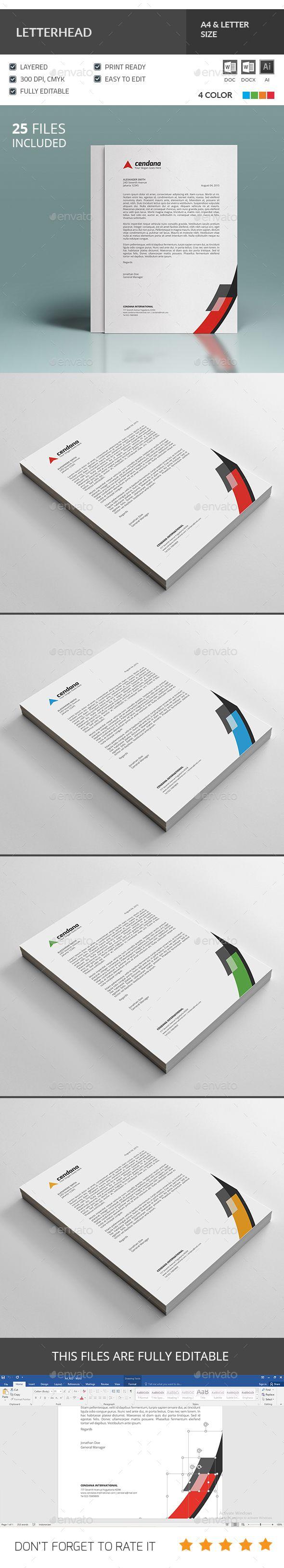 letter format on letterhead%0A Letterhead Template