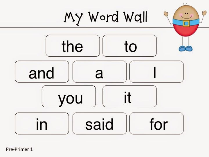 humpty dumpty word wall card for learning sight words pre on word wall id=40102