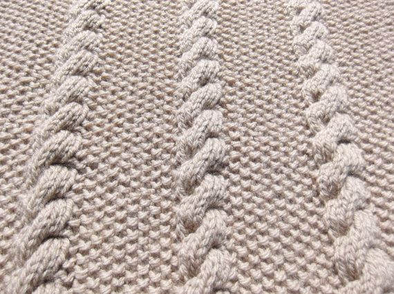 Hand Knitted Baby travel blanket lap by HandKnittedYorkshire