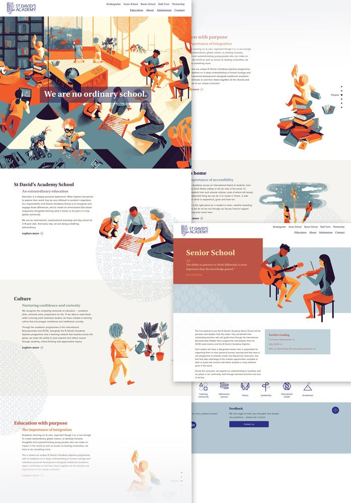 St David's Academy School - Graphic Design and Branding by Limegreentangerine