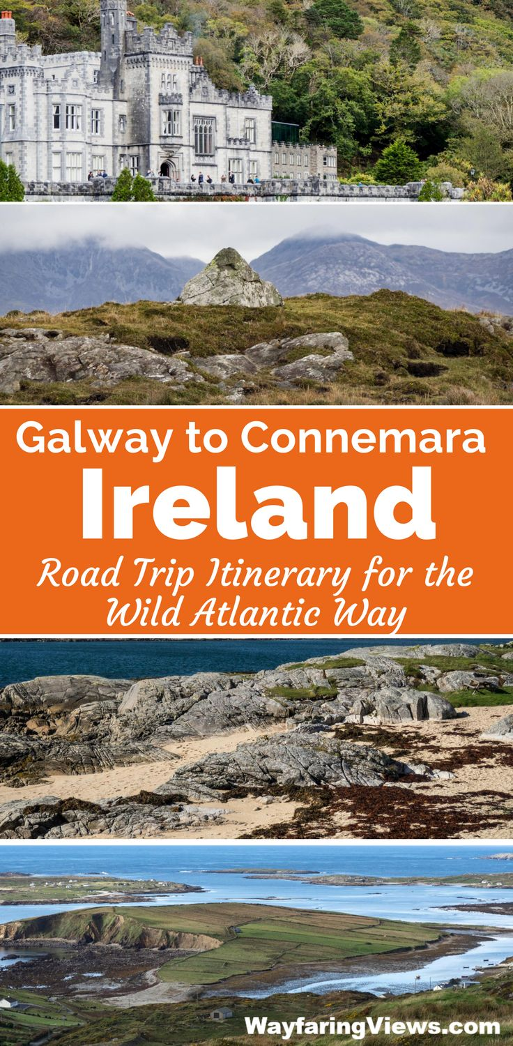 Take a road trip from Galway through Connemara with this 2-day itinerary.Things to do in Ireland   West Coast Ireland   County Galway   Cliften Sky Road   Kylemore Castle   Wild Atlantic Way #ireland #WildAtlanticWay #roadtrip #galway