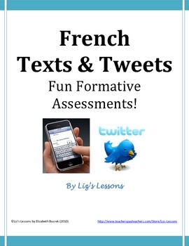 FREE! Use student interest in texting and twitter in order to get some quick formative assessment feedback through these two templates.