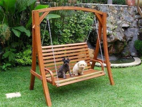 Columpio madera jardin la imagen se est cargando columpios de madera con asiento de beb with - Columpio madera jardin ...