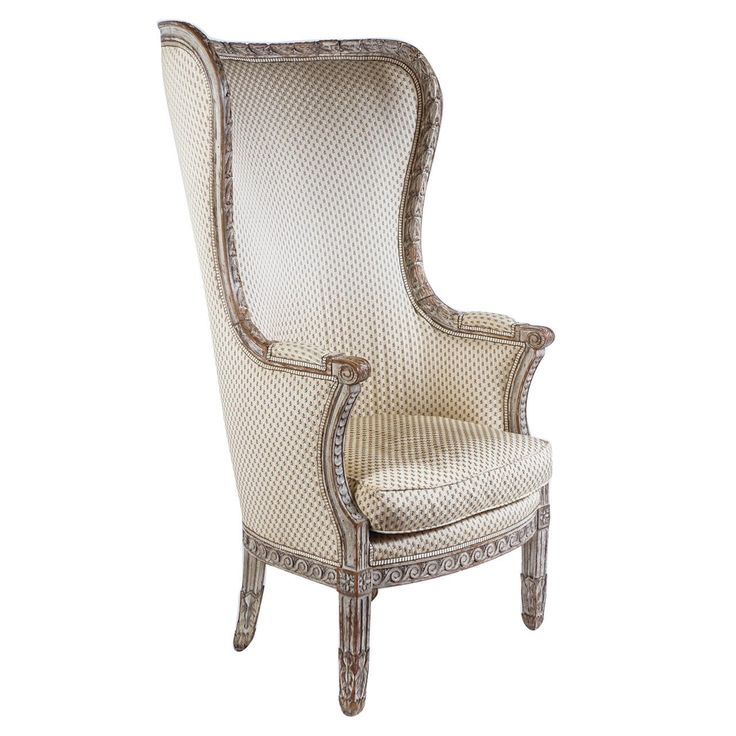 Fine Painted Louis XVI Bergere a Oreilles, France, circa 1770 | From a unique collection of antique and modern bergere chairs at https://www.1stdibs.com/furniture/seating/bergere-chairs/