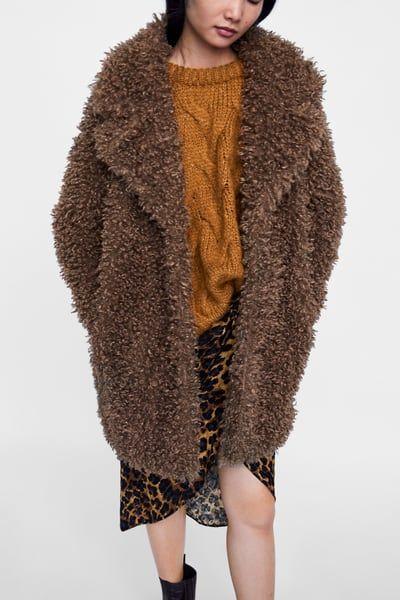 PŁASZCZ Z PRZYJEMNEGO W DOTYKU SZTUCZNEGO FUTERKA - Dostępny w innych  kolorach   Moda   Fur Coat, Zara und Faux fur f046c1c1d4