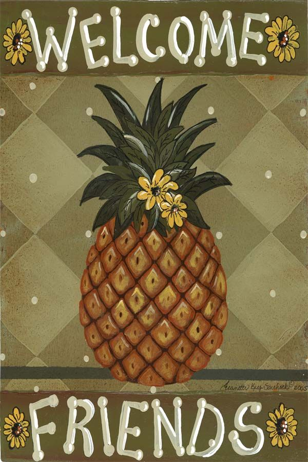 Pineapple Symbolism of Welcome   small_2134_Welcome_Friends.jpg
