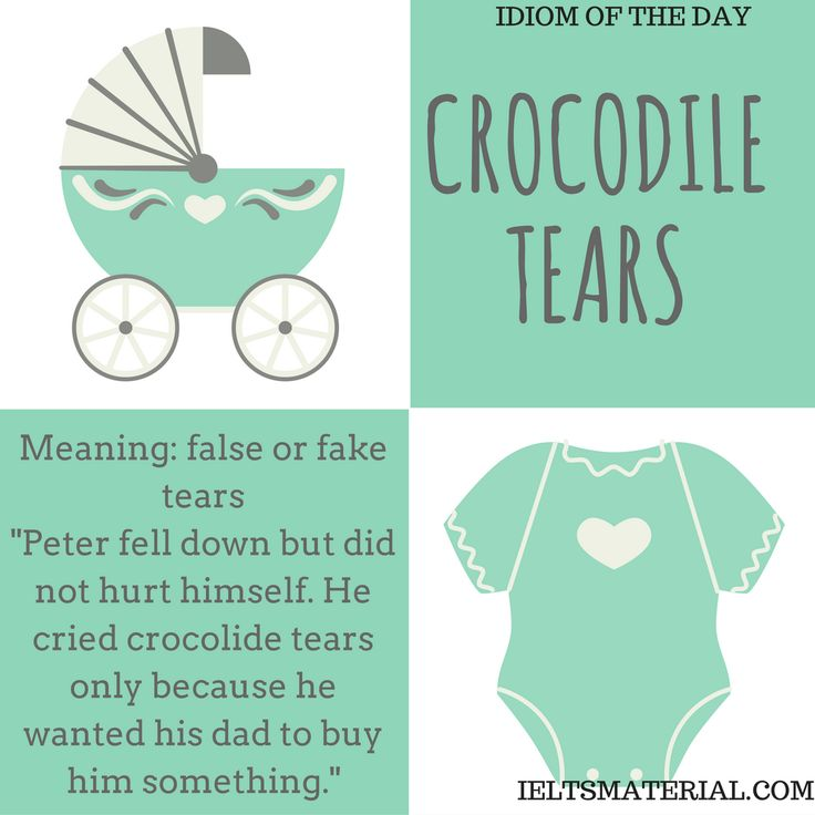 Crocodile Tears – Idiom Of The Day For IELTS