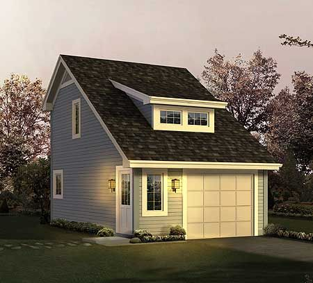 garage carriage house plans - modified (cute-ified) could be good