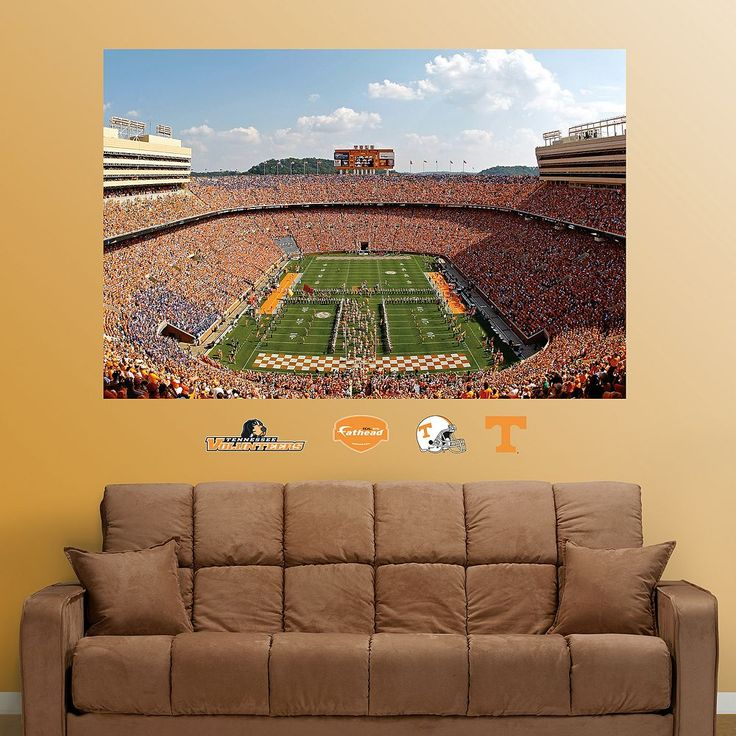 Fathead Tennessee Volunteers Stadium Mural Wall Decals, Multicolor