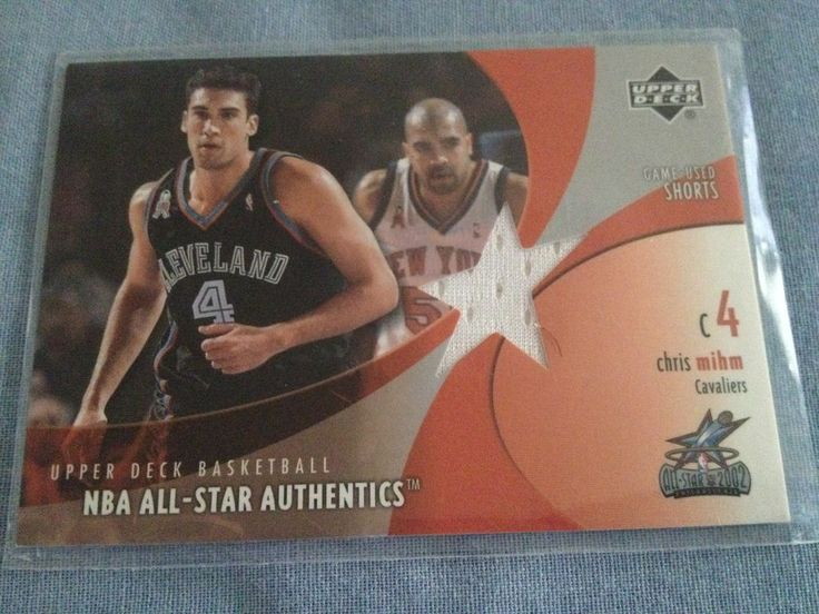 CHRIS MIHM 2002-03 Upper Deck All-Star Authentics SHORTS #CM-AS Cavaliers C4 #ClevelandCavaliers