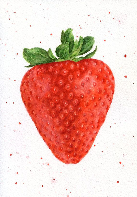 ORIGINAL Painting  Strawberry Watercolour por ForestSpiritArt, £30.00