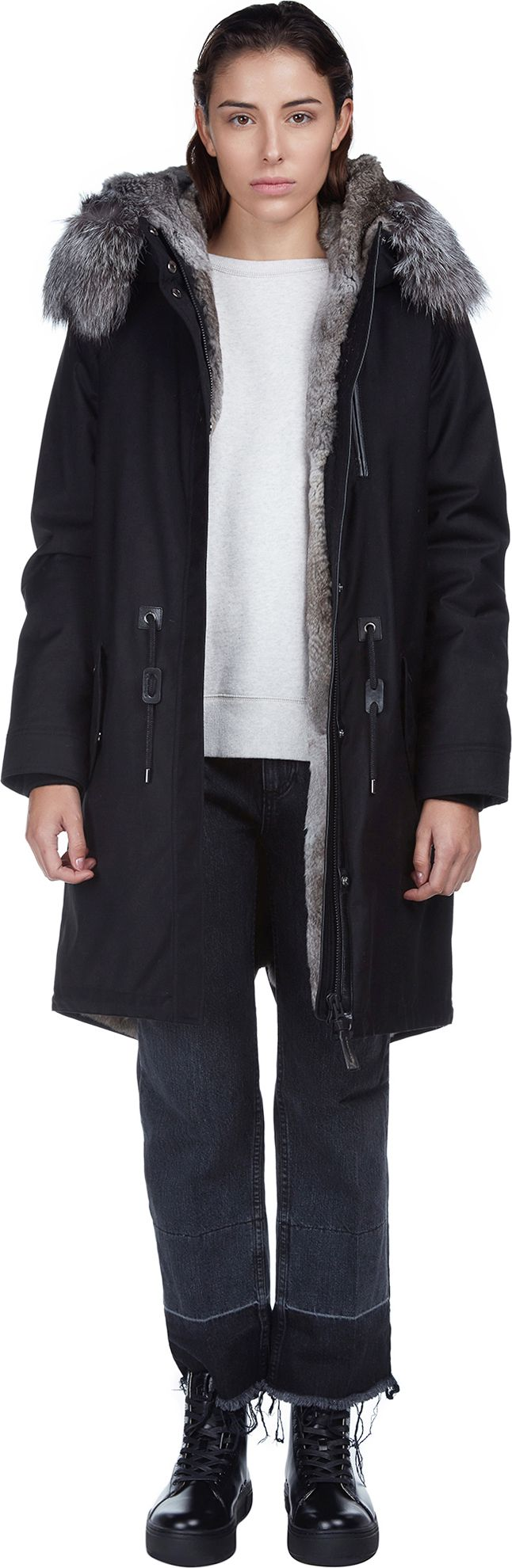 RENA-X Ladies Parka w/ Fur At Hood Rabbit Lined | Mackage | LOIT