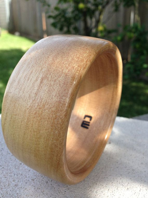 Handcrafted Unique Wood Bangle made from American by reborntimber
