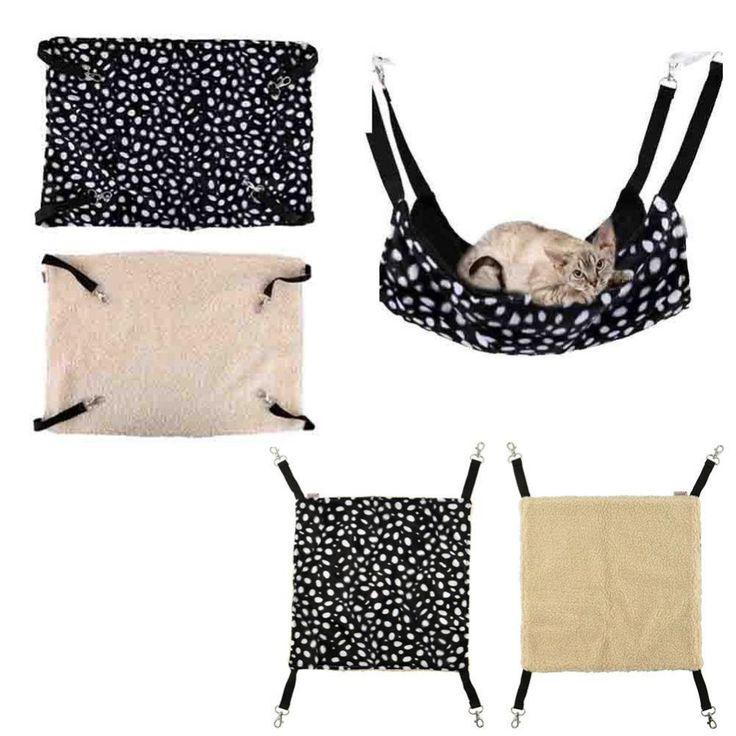 ポークドットポリエステルペットラットウサギ/フェレットチンチラ/猫ケージハンモック小さな犬のベッドカバー袋毛布品質ロスガトス
