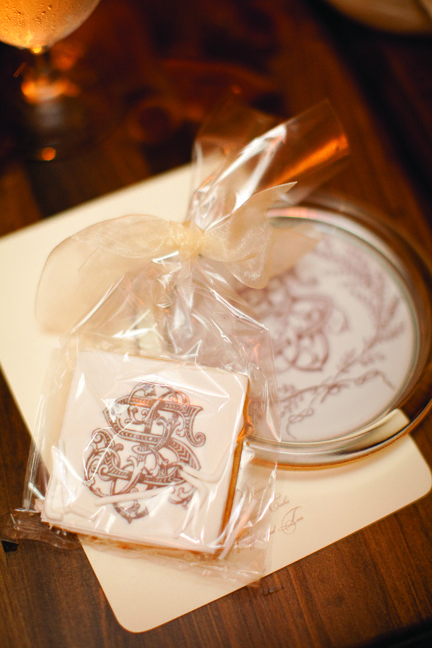 Wedding Favor Cookies With Cipher | photography by http://lauranegriphotography.com/