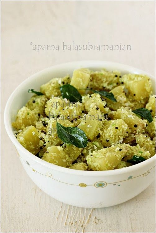 Breadfruit with coconut cooked South Indian style.