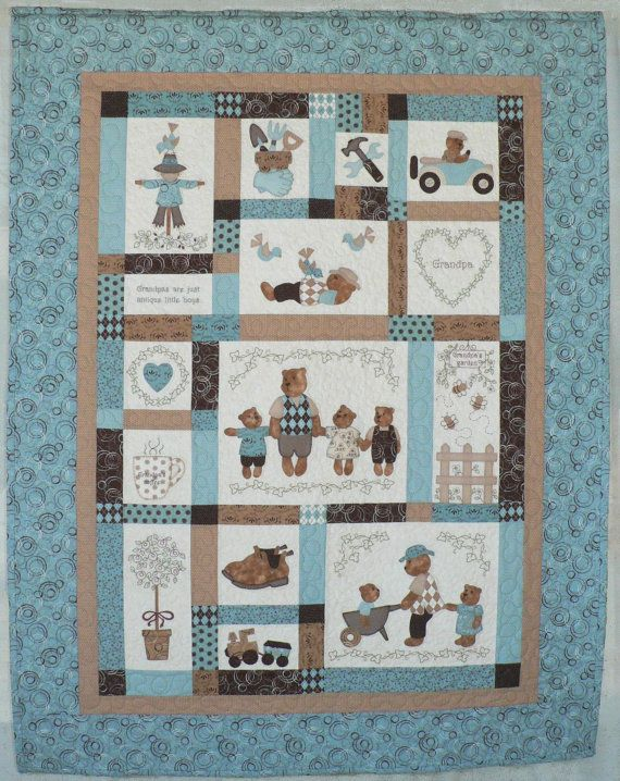 Grandpa's Little Treasures quilt pattern by Teddlywinks on Etsy, $22.00