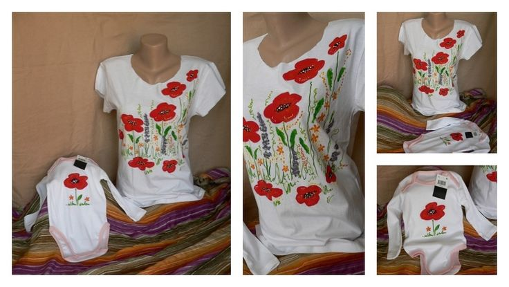 set mama fiica pictat cu culori speciale pt textile, se spala normal la 30 de grade- 100 ron www.odaiacupicturi.ro