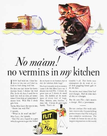 1920 FLIT ad: Racist Ads, Black Adverti, Credit Vintageadbrow, 30 Vintage, Black Americana, Aunt Jemima, Black History, Vintage Ads, Racist Vintage
