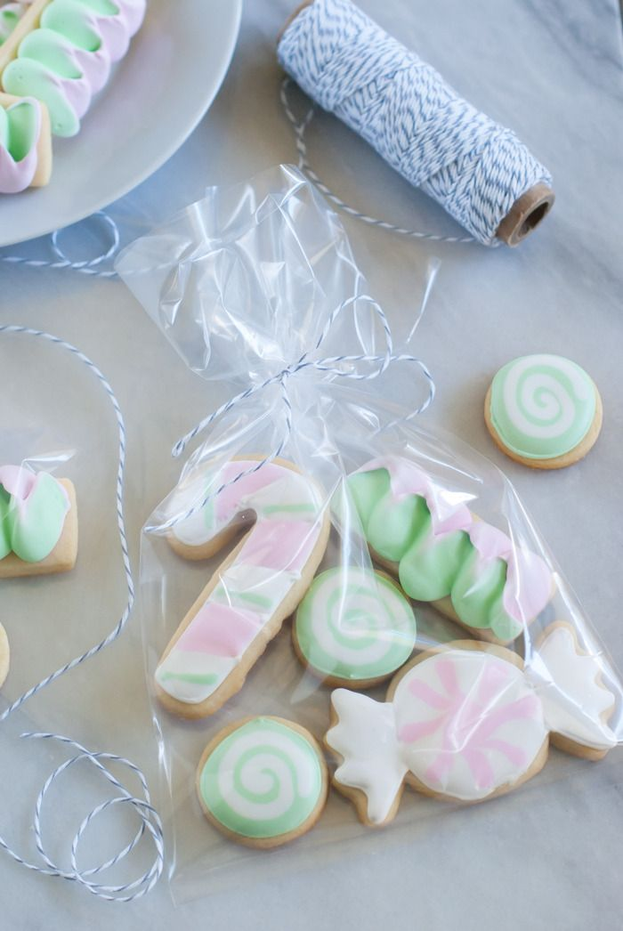 Butter Mint Cut-Out Candy Cookies : recipe + decorating tutorial from @bakeat350