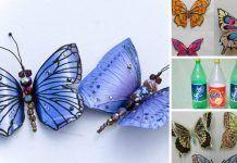 Aquí Te Muestro Los Moldes Para Que Hagas ESTAS Bellas Mariposas Con Tan Sólo Unas Botellas De Plástico – ¡Aprende Cómo!.