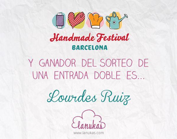 Resultado del sorteo de una entrada doble para el Handmade Festival Barcelona 2014