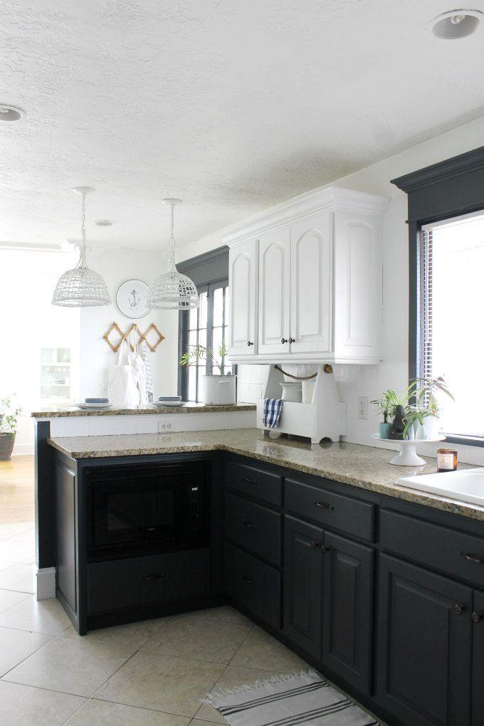 My Zen Kitchen Makeover New Charcoal Kitchen Cabinets Budget Kitchen Remodel Kitchen Remodel Zen Kitchen