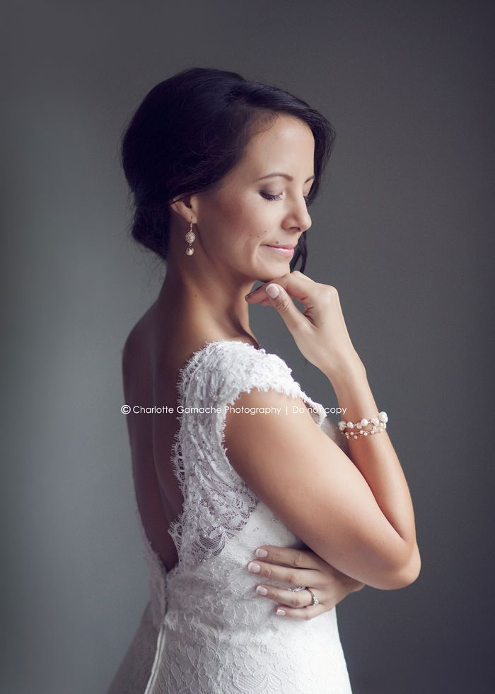 Brock House Wedding | Vancouver wedding photographer - natural light, bride photography, lace dress, updo, window light, portrait