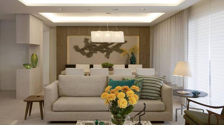 Decoração clean e moderna para sala de estar