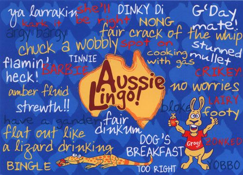 His and Her Hobbies: His: Living in America - Aussie Lingo