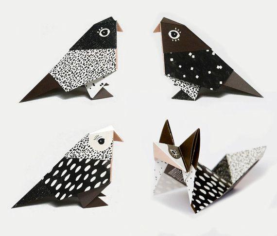 ber ideen zu origami v gel auf pinterest origami origami papier und origami kurs. Black Bedroom Furniture Sets. Home Design Ideas