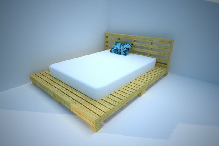 Base de cama con tarima industrial reutilizando - Bases para cama ...