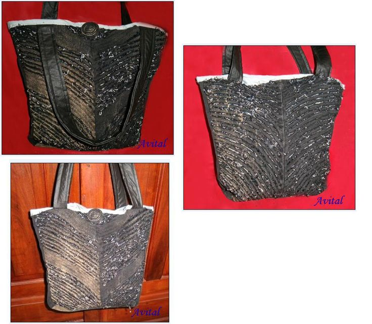 Bolso con la técnica de reciclaje de pantalon de jeans , con paso a paso Bag with recycle technique jeans pants with step by step