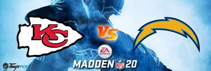 Kansas City Chiefs Vs Los Angeles Chargers Nfl Madden 20 Sim 6 28 2020 Picks Predictions Previews In 2020 Chargers Nfl Los Angeles Chargers Kansas City Chiefs