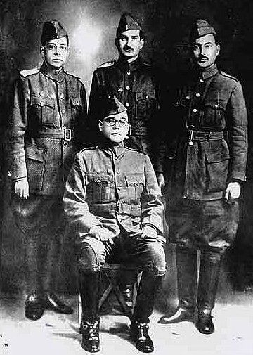 Chandra Bose with his Generals.