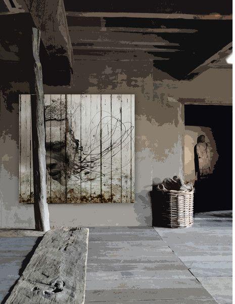 Am artworks printed paper over wood planks