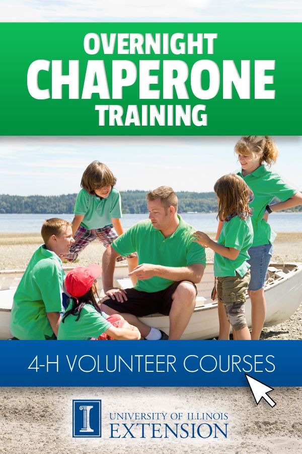 4-H Volunteer Course: Overnight Chaperone Training (Online)