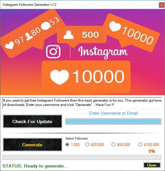 Instagram Followers Generator 2018 v1 2 | Free Game Keygens and