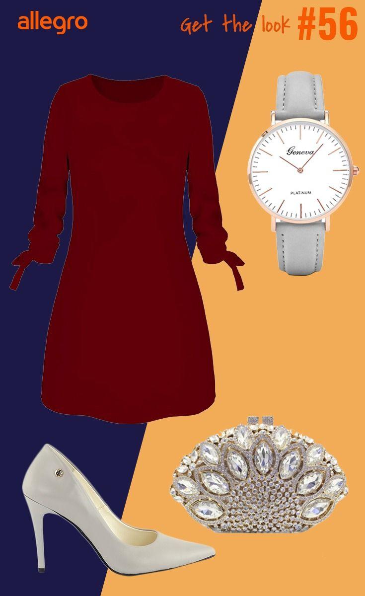 Sukienka Damska Zegarek Damski Torebka Z Ozdobami Czolenka Mini Dress Fashion Dresses