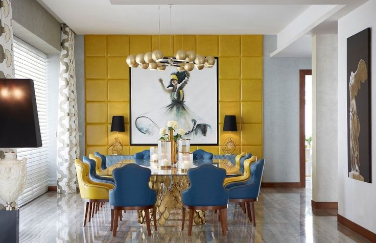 KOI Dining Table | Dining Room Ideas. Dining Room Table. #interiordesign #diningroom #diningroomdesign Find more: https://www.brabbu.com/product/casegoods/koi-dining-table-1