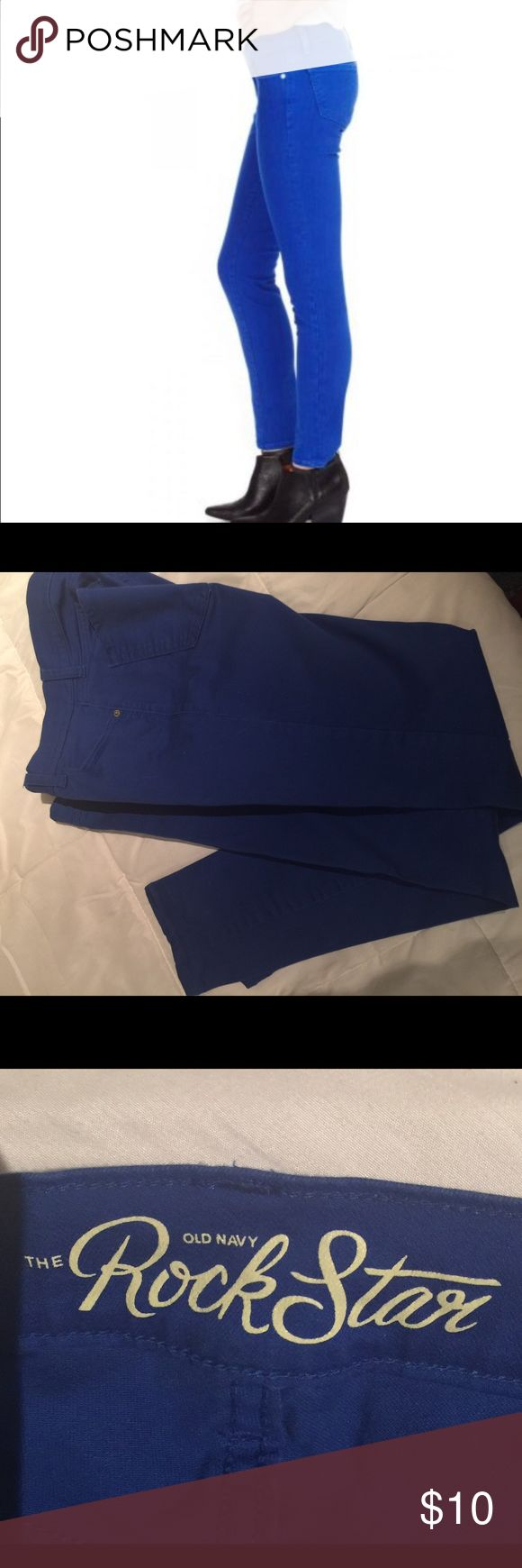Old Navy skinny cobalt jeans size 8 Love these jeans. Has a little stretch, excellent condition Old Navy Jeans Skinny