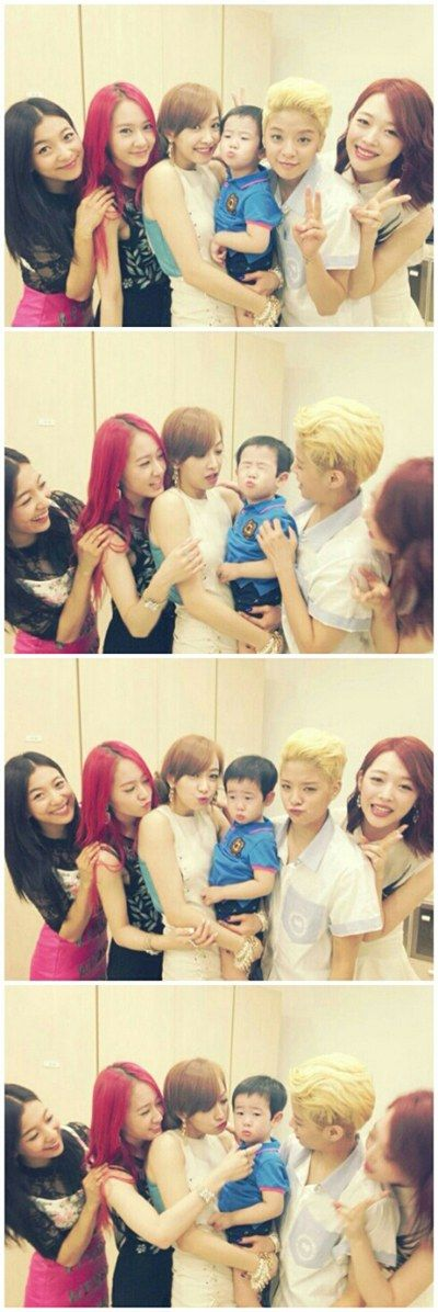 Sulli's Little Brother Displays Irresistable Aegyo Towards f(x)