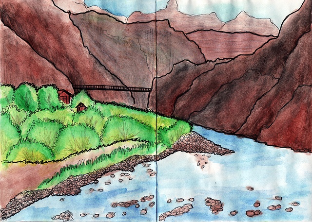 Grand Canyon, Colorado River #sketchbook # ...