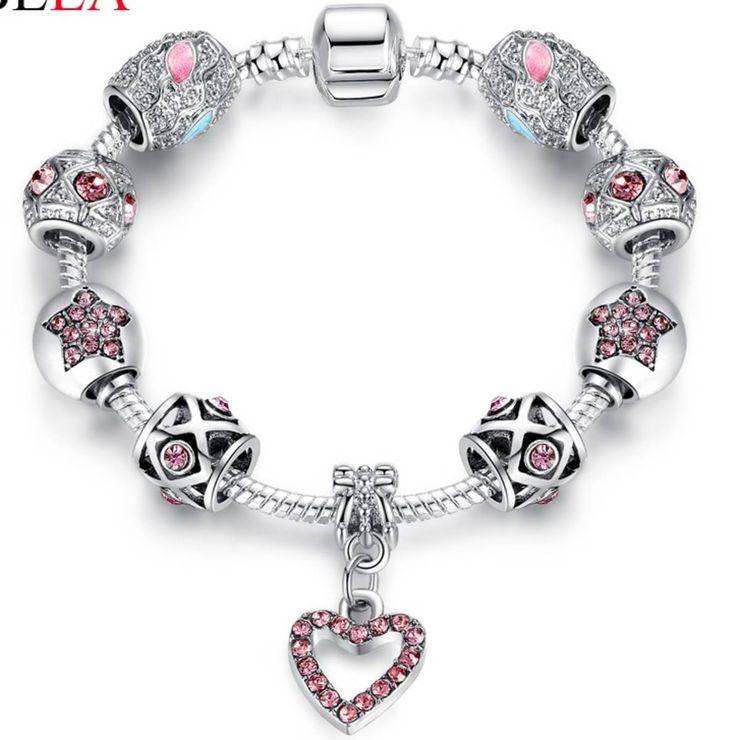 pulseira berloques vivara life banhado prata 925 - bijoux sem marca
