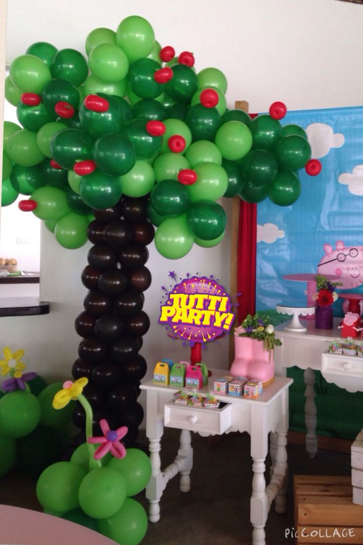 Árbol de manzanas Peppa Pig, Peppa Pig Party ideas, Tree ...
